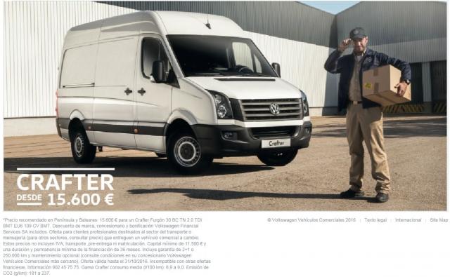 El volkswagen Crafter desde 15.600 eur !!!