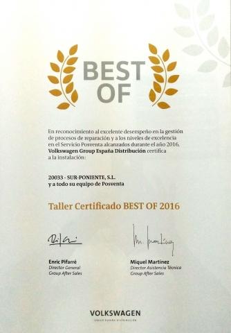 BEST OF 2016 - Excelencia y Gestión