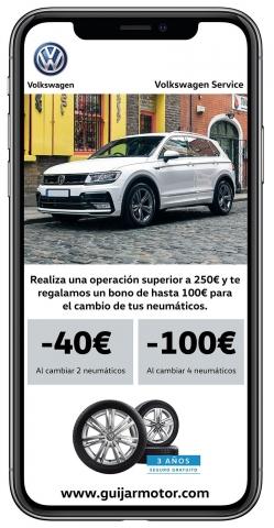 Hasta 100€ de dto. en el cambio de tus neumáticos