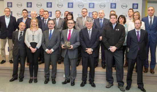 El presidente Lambán visita la planta de GM España con motivo del Sello de Oro Aragón Empresa