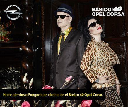 """Fangoria en directo en el nuevo concierto """"Básico 40 Opel Corsa"""""""