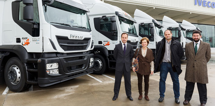 La empresa Transportes INLAGRI adquiere cinco Iveco Stralis propulsados por gas natural licuado