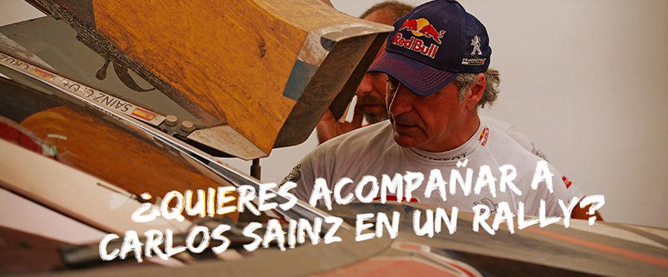 Peugeot te lleva a la Baja Aragón con Carlos Sainz