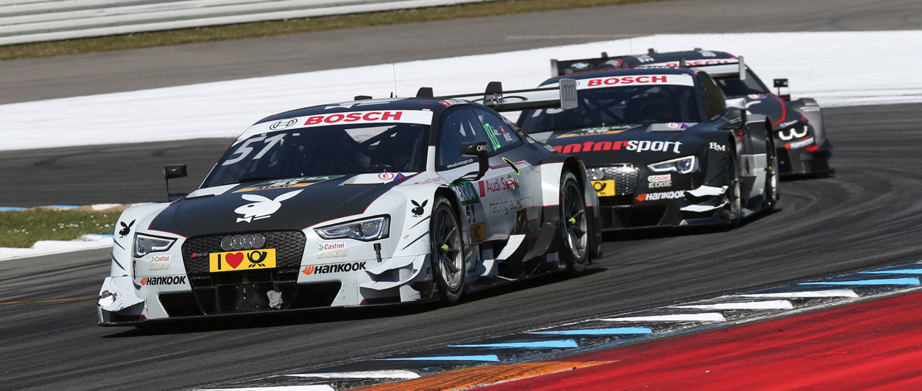 Triunfo de Audi en la primera carrera de la prueba inaugural del DTM en Hockenheim