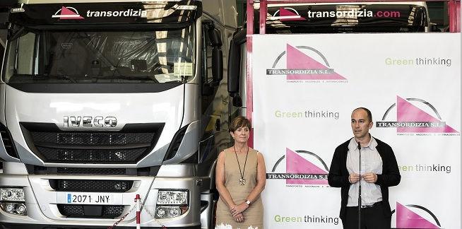 El primer camión de gas natural en cruzar Europa es un Iveco Nuevo Stralis de la empresa Transordizia