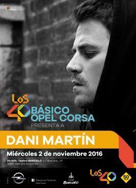 """Dani Martín regresa con su nuevo disco a los """"Básico 40 Opel Corsa"""""""