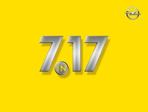 """""""7 en el 17"""": Siete nuevos modelos Opel en 2017."""