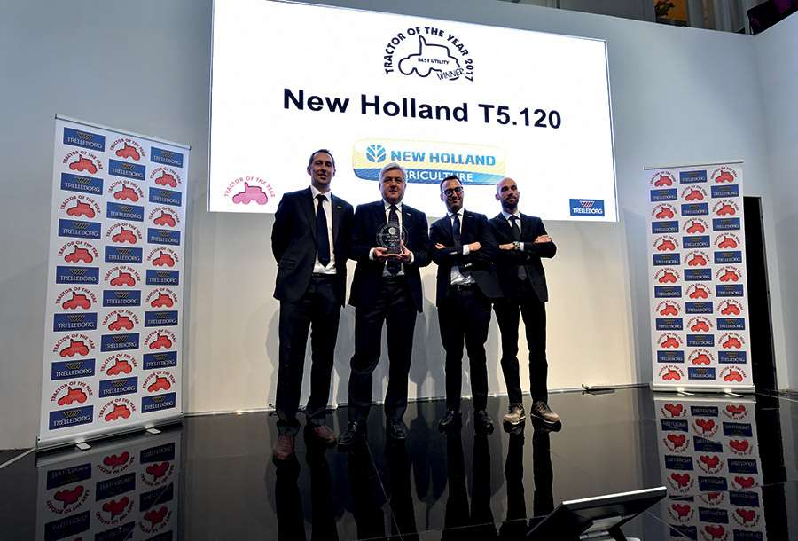 "A New Holland Agriculture T5.120 conquista o título ""Best Utility"" nos prémios Tractor of the Year® 2017"