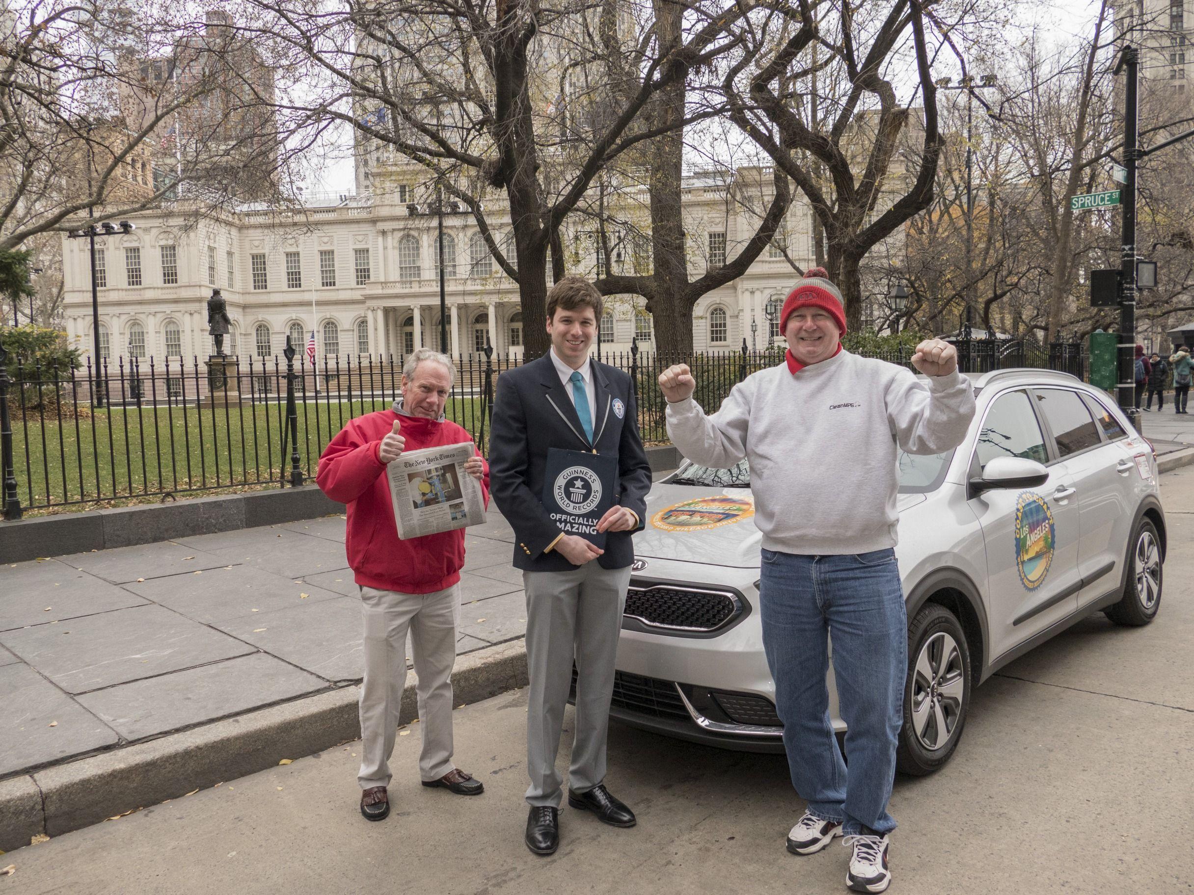 Kia Niro logra el título GUINNESS WORLD RECORDS™ por el consumo más bajo logrado por un vehículo híbrido