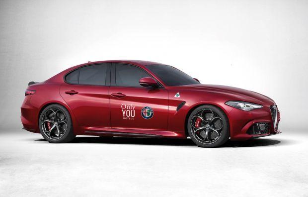 Alfa Romeo con su flamante Giulia y Only YOU Hotels, se alían con motivo de la celebración de FITUR, del 18 al 22 de Enero