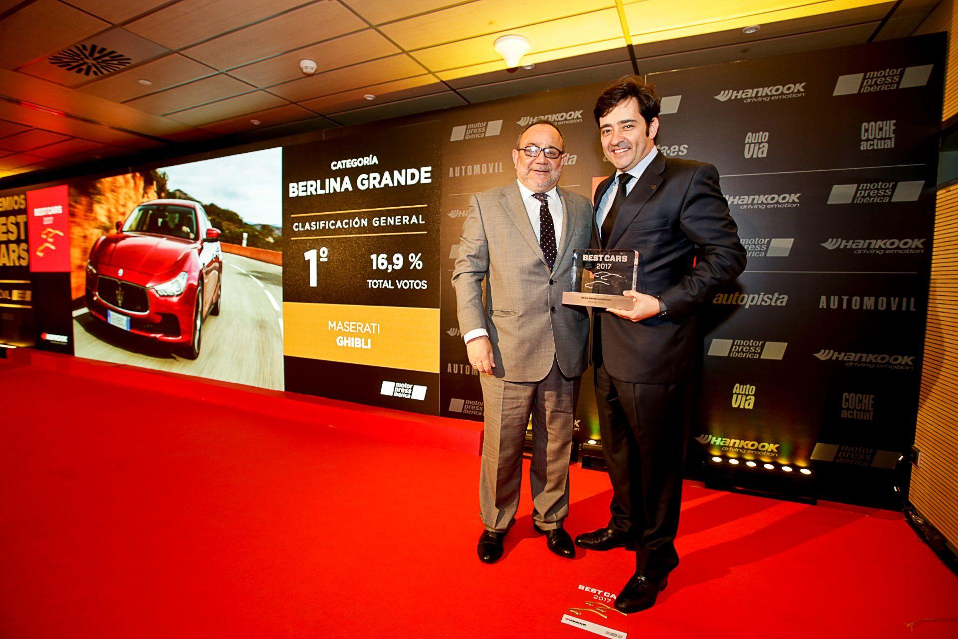 No hay dos sin tres: Maserati Ghibli, elegido por tercer año consecutivo 'Mejor Berlina Grande' por los lectores de Autopista, Automóvil, Coche Actual y Autovía, del grupo Motorpress Ibérica