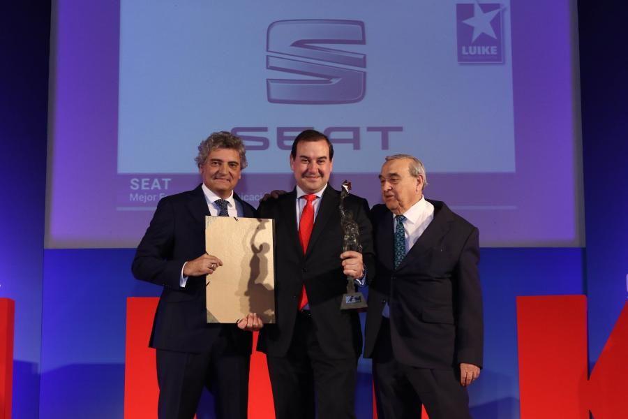 En la gala de los premios Estrella Luike del Motor SEAT, premiada por partida doble