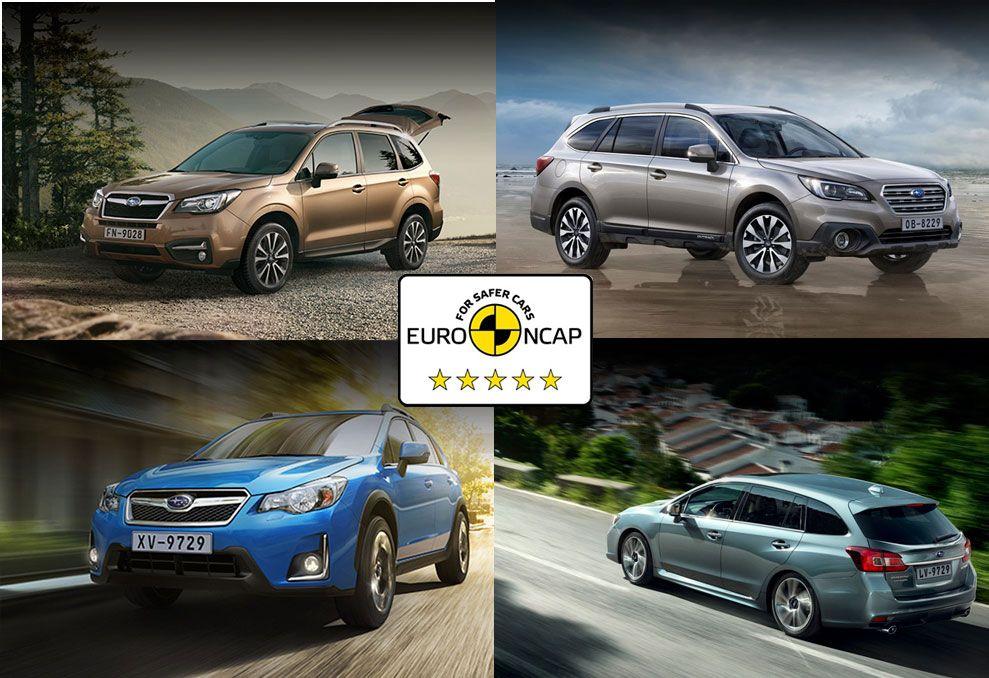 Las 5 estrellas EuroNCAP avalan la seguridad de Subaru