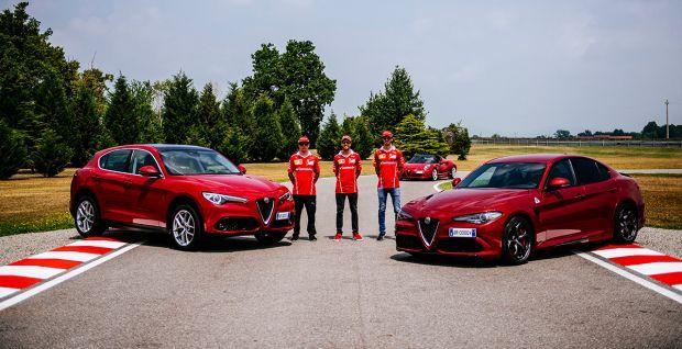 """Alfa Romeo Giulia y los tres Campeones de la Escudería Ferrari: """"La meccanica delle emozioni"""" en vídeo"""