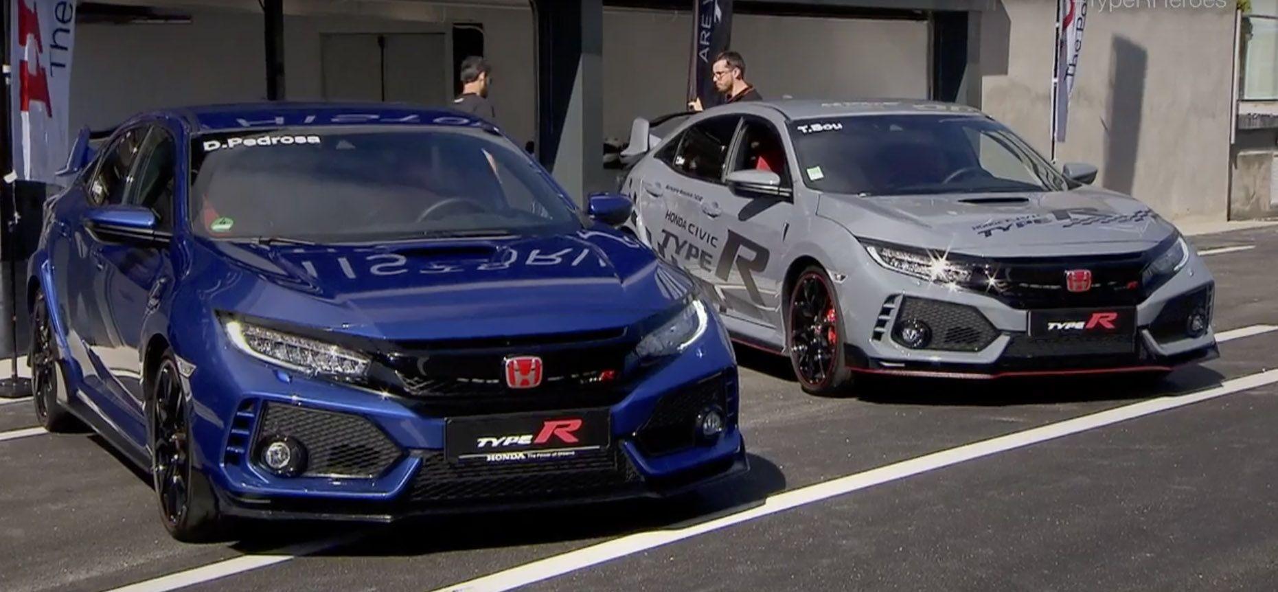 Un trío de campeones al volante del Honda Civic Type R en el Jarama