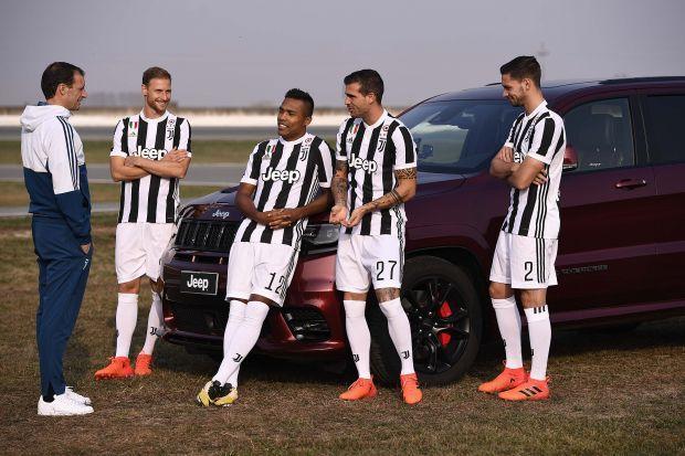 Las superestrellas de la Juventus disfrutan de la gama Jeep