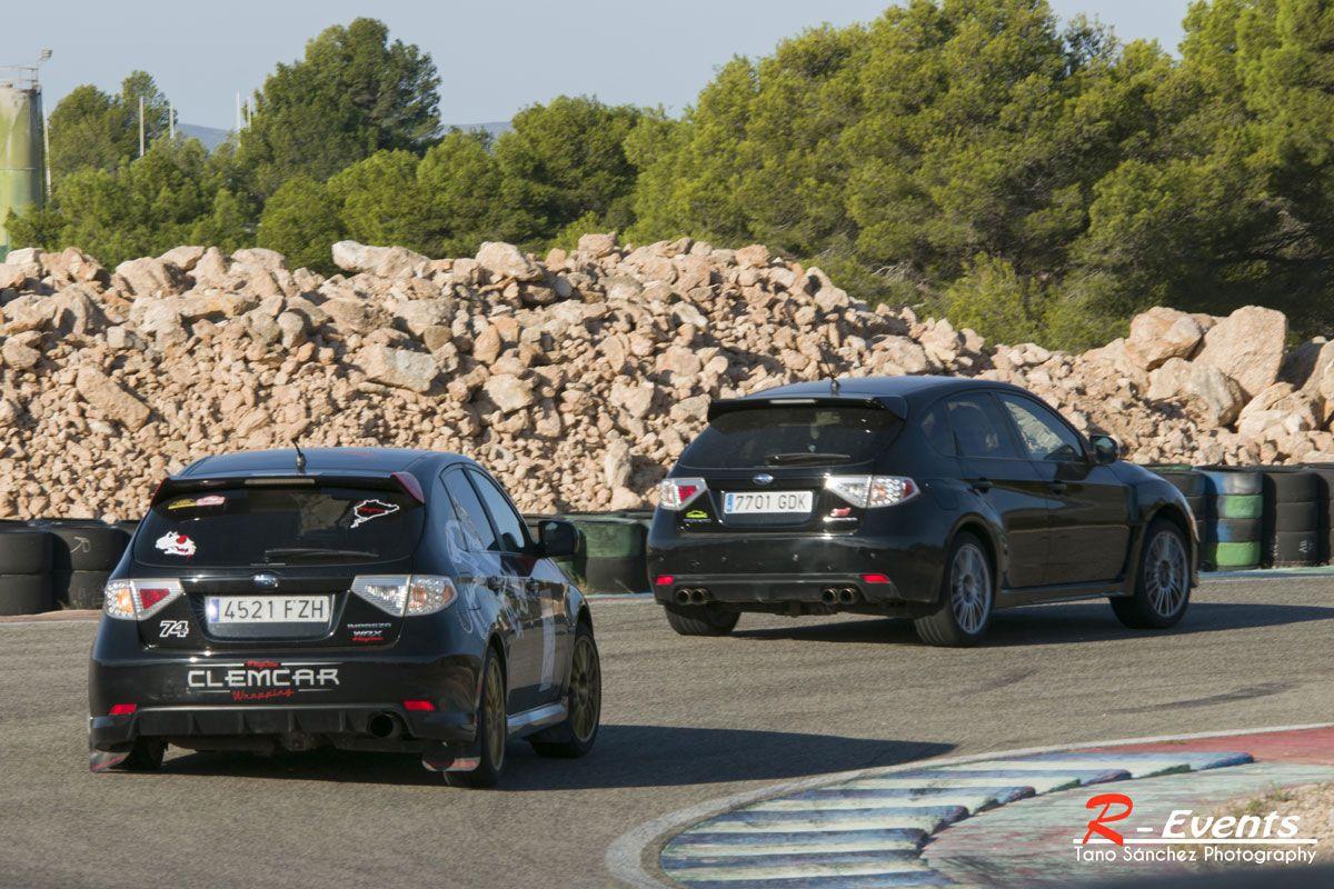Los motores bóxer rugen en el Circuito de Calafat gracias al Club Subaru España