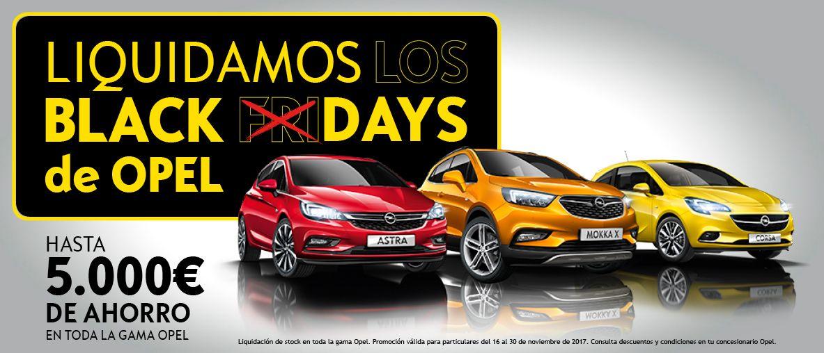 Liquidación Black days, hasta 5.000€ de ahorro en toda la gama Opel