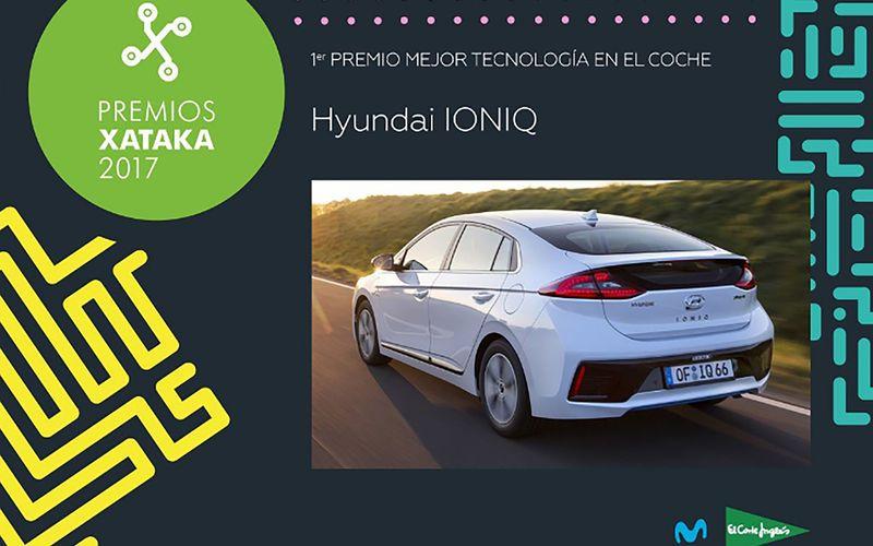 """Hyundai IONIQ galardonado como """"Mejor Coche en Tecnología"""" Xataka 2017"""