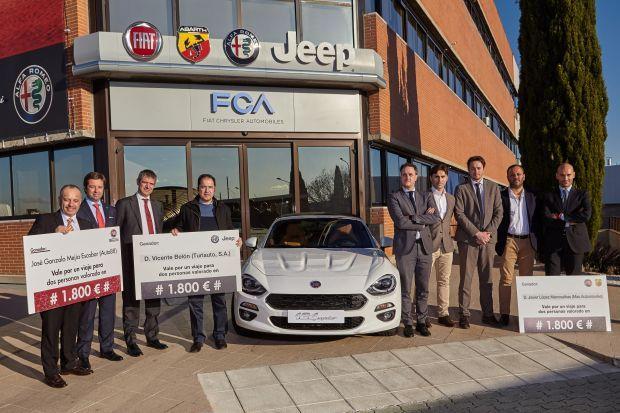 FCA premia a sus mejores vendedores de Fiat, Abarth, Alfa Romeo, Jeep y Fiat Professional