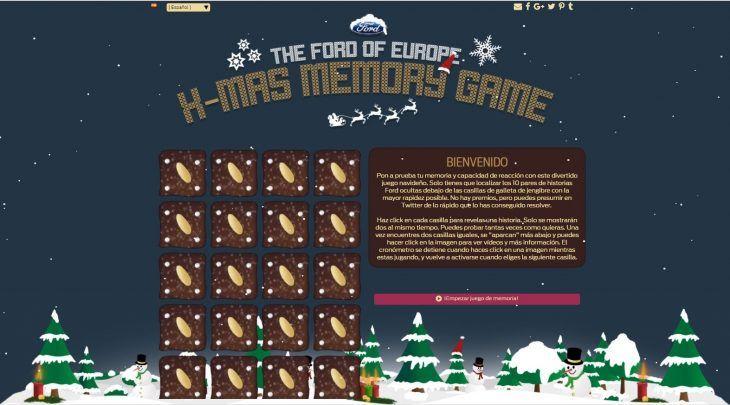 Demuestra tu destreza visual estas navidades con el X-MAS Memory Game de Ford