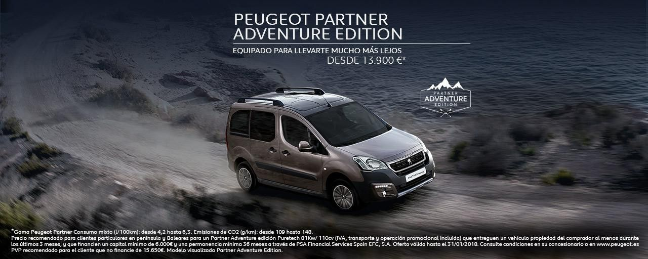 PEUGEOT PARTNER ADVENTURE EDITION