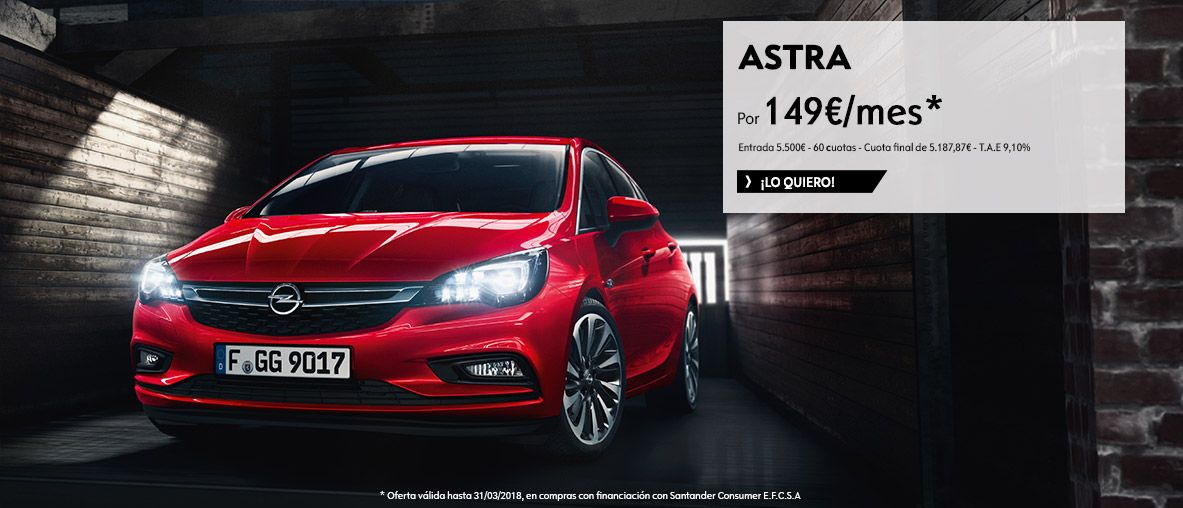 Opel Astra por 149€/mes