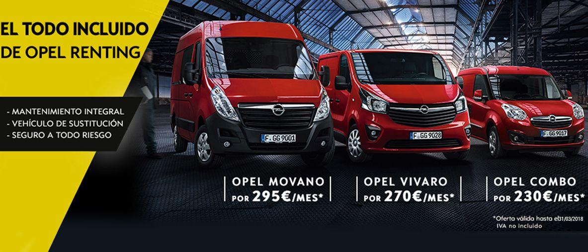 El todo incluido de Opel renting.