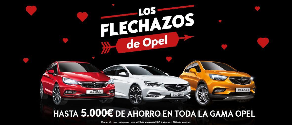 Flechazos Opel. Hasta 5.000€ de ahorro en toda la gama Opel