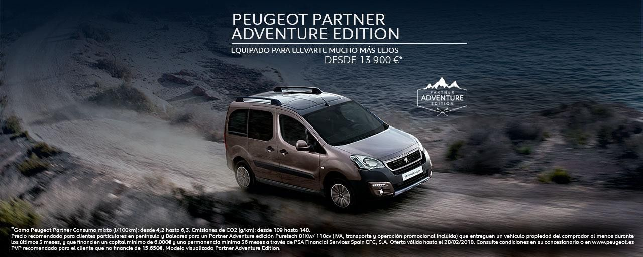 PEUGEOT PARTNER ADVENTURE EDITION.