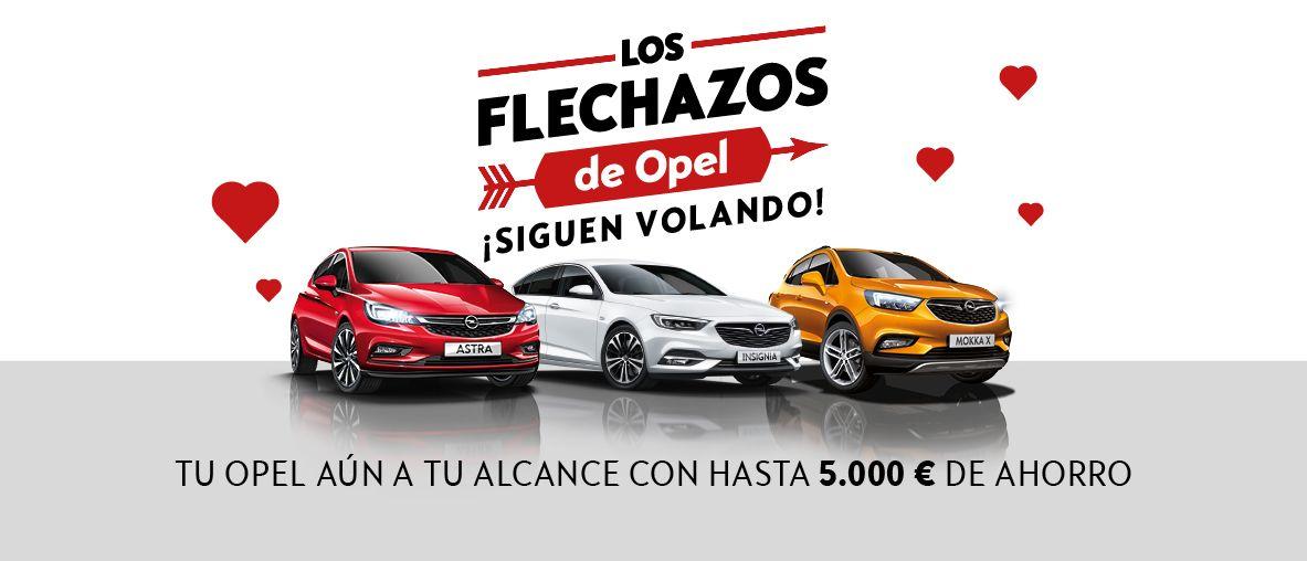 Ampliación flechazos. Hasta 5.000€ de ahorro en toda la gama Opel