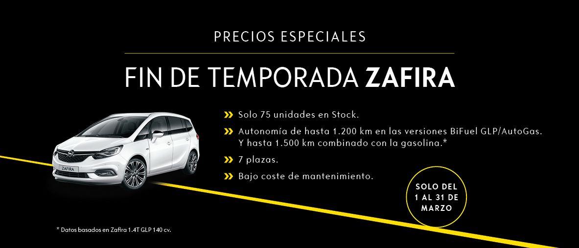 FIN DE TEMPORADA ZAFIRA. PRECIOS ESPECIALES