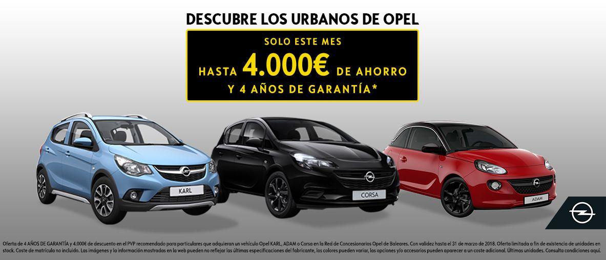 Urbanos de Opel. Hasta 4.000€ de ahorro