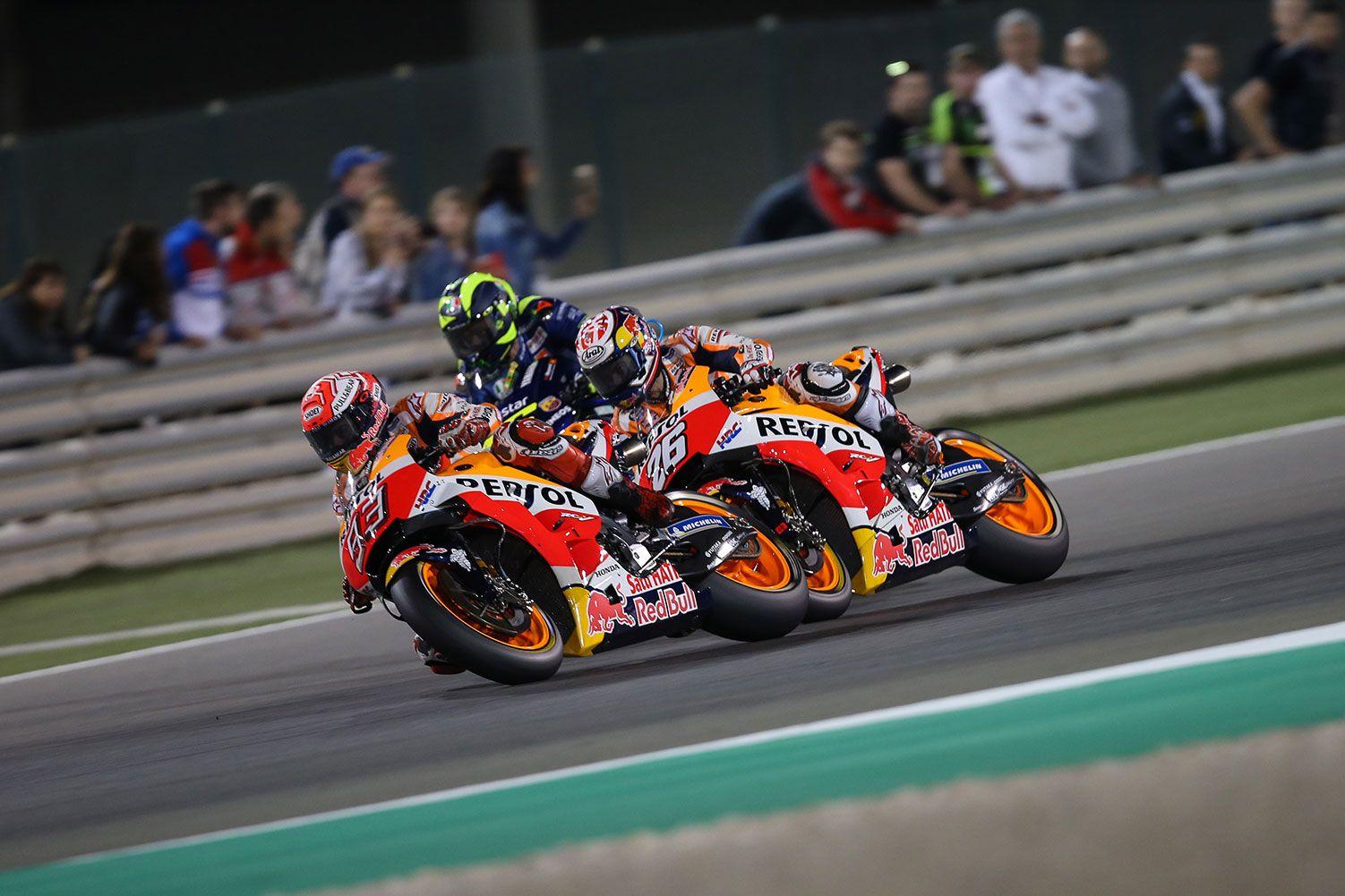 Marc Márquez estrena la temporada de MotoGP con la segunda posición