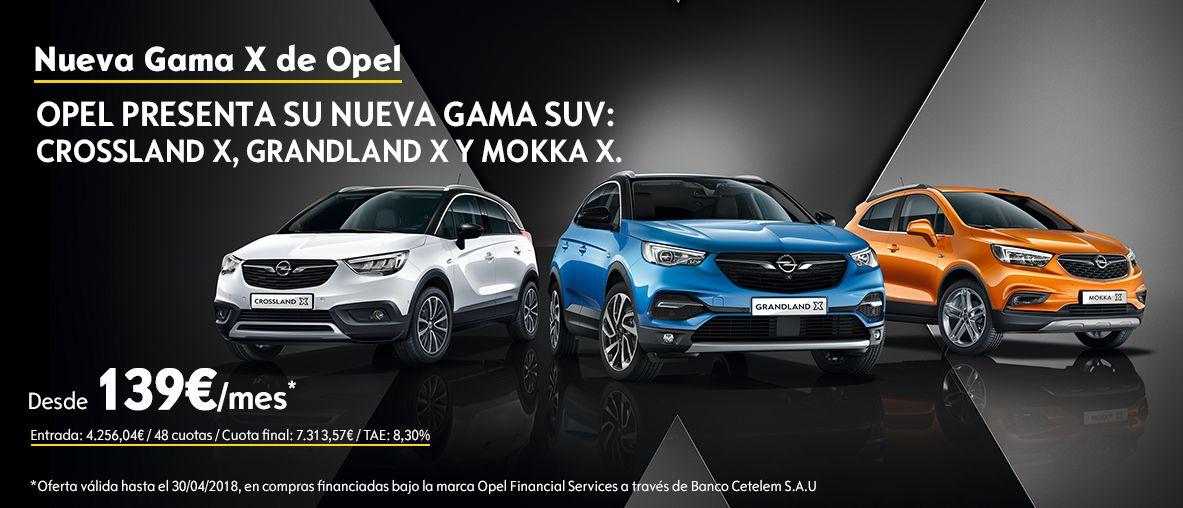 Nueva gama X de Opel desde 139€/mes