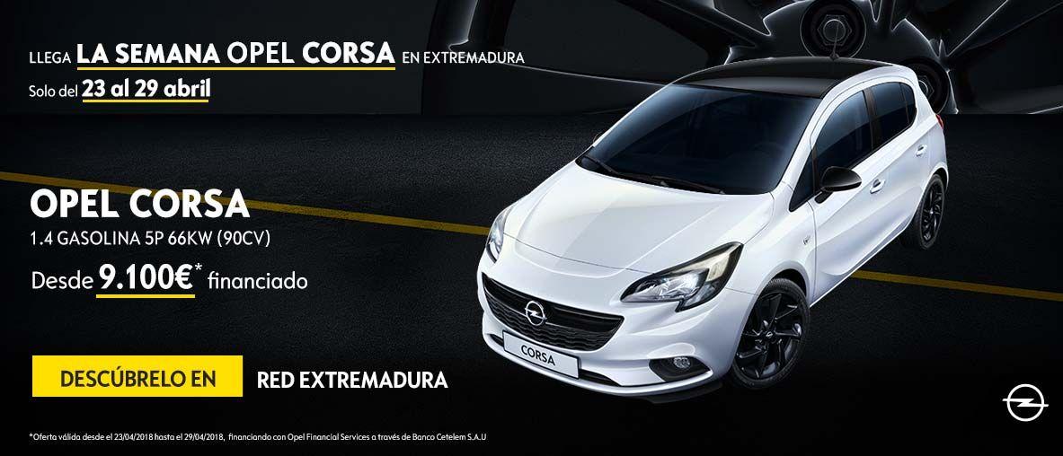 Semana del Opel Corsa en Extremadura desde 9.100€