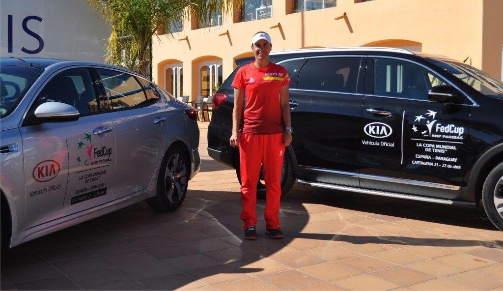 Kia apoyará al equipo español de tenis en la Copa Federación ante Paraguay