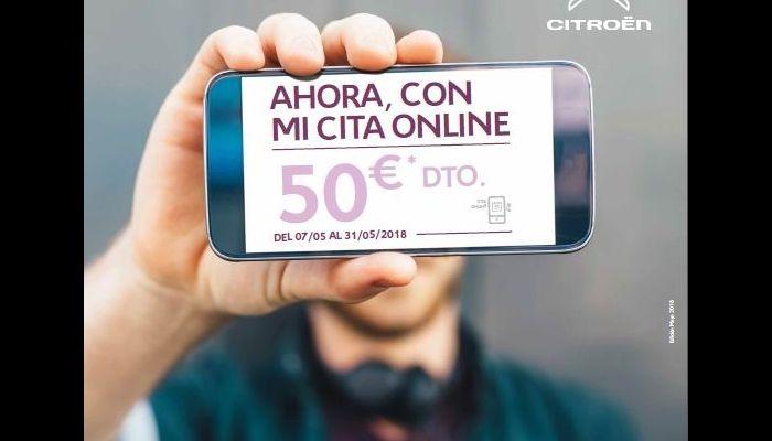 CITA ONLINE EN LOS SERVICIOS OFICIALES CITROËN: RAPIDEZ, COMODIDAD Y, EN MAYO, COINCIDIENDO CON EL DÍA MUNDIAL DE INTERNET, 50 EUROS DE DESCUENTO