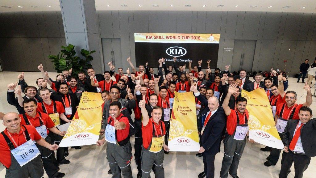 Los técnicos europeos consiguen sus mejores resultados hasta la fecha en la Kia Skill World Cup