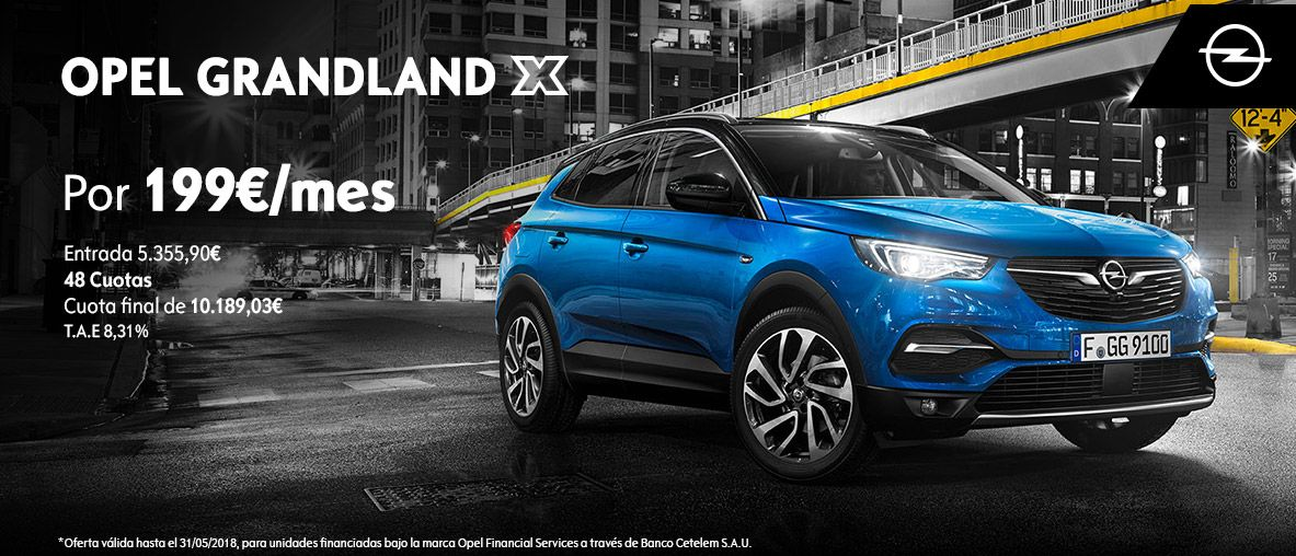 Opel Grandland X por 199€/mes