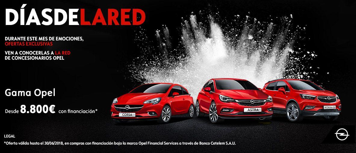 Días de la Red. Gama Opel desde 8.800€ con financiación