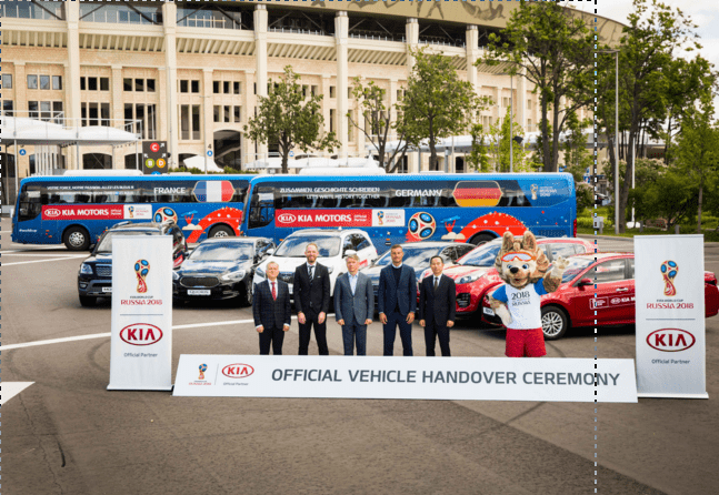 Kia se prepara para el Mundial de Rusia con la entrega de una flota de vehículos