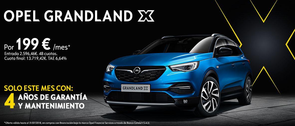 Opel Grandland X por 199€/mes con 4 años de garantía