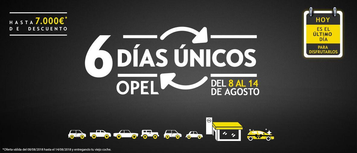 6 días únicos Opel; hasta 7.000€ de descuento;