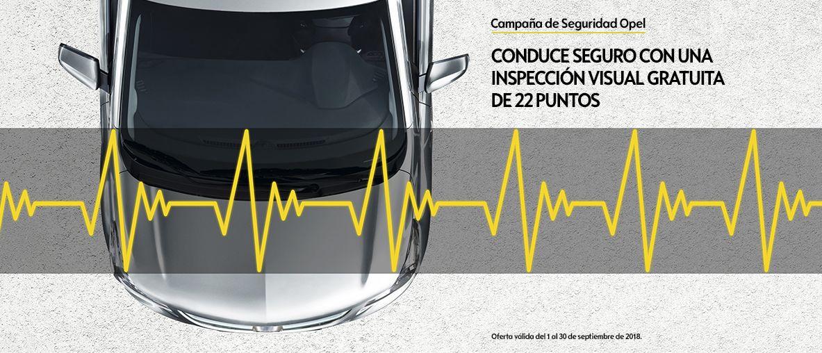 Seguridad Opel, conduce seguro con una inspección visual gratuita de 22 puntos