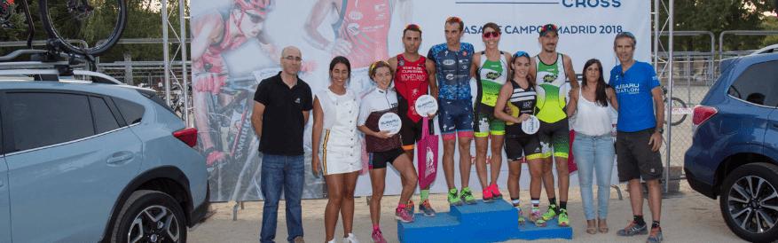 Los campeones Rubén Ruzafa y Eva García ganan la IV edición del Subaru Duatlón Cross