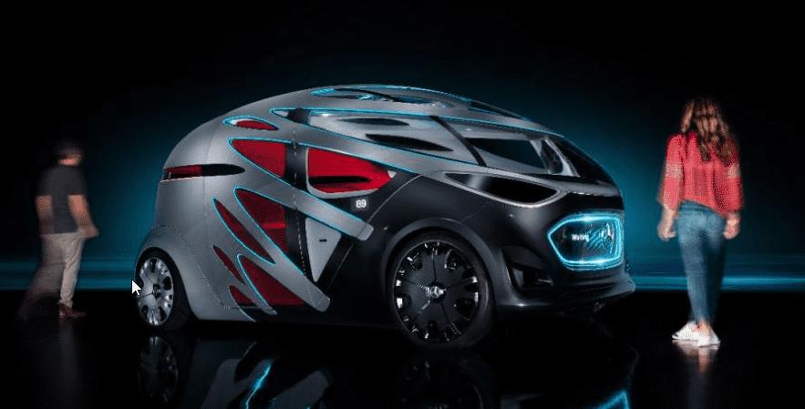Mercedes Vision Urbanetic: el coche autónomo que moverá personas o pedidos de Amazon
