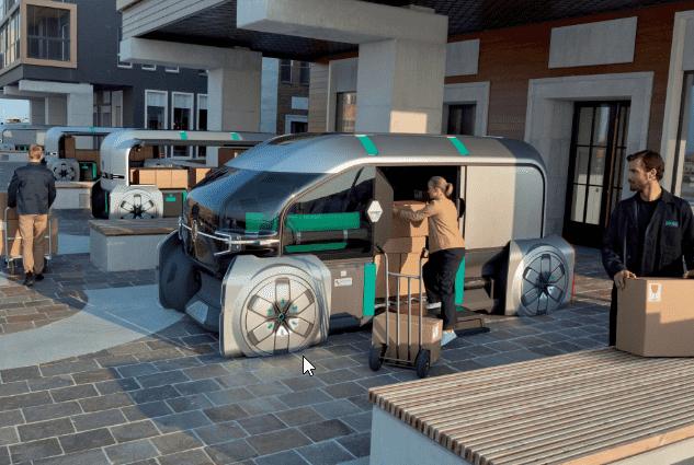 Humano al control en el sistema EZ-PRO de distribución urbana autónoma de Renault
