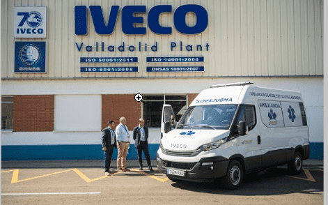10/1/2018 IVECO entrega la primera ambulancia de gas natural de Europa, a Grupo Tenorio