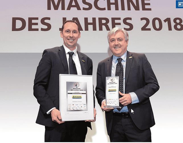 O Tractor New Holland T6.175 Dynamic Command™ ganha o prémio de Máquina do Ano 2018 na categoria de Tractor de Gama Média na Agritechnica 2017